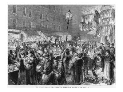 The Poor of London Doing their Christmas Shopping--Giclee Print