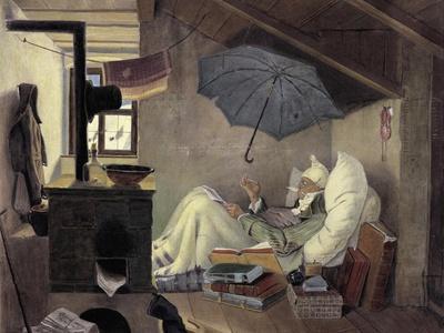The Poor Poet, 1839-Carl Spitzweg-Giclee Print