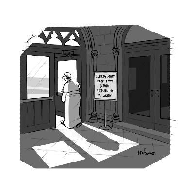 The Pope visits New York City. - Cartoon-Kaamran Hafeez-Premium Giclee Print