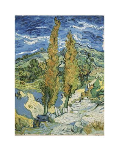 The Poplars at Saint-Remy, c.1889-Vincent van Gogh-Art Print