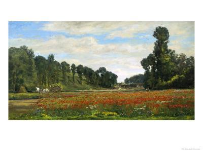 The Poppy Field-Hippolyte Delpy-Giclee Print