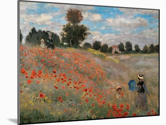 The Poppy Field-Claude Monet-Mounted Premium Giclee Print
