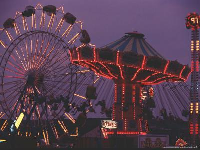 The Popular Midway Section of the New York State Fair-Michael Okoniewski-Photographic Print