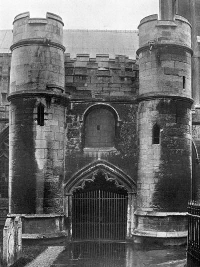 The Porch, Holbeach Church, Lincolnshire, 1924-1926-Valentine & Sons-Giclee Print