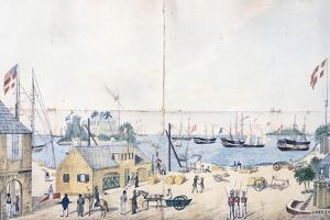 The Port and the Shipyards of Christiansted in Saint Croix in the Virgin Islands