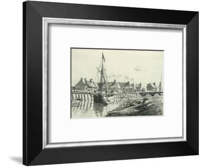 The Port at Touques-Claude Monet-Framed Premium Giclee Print
