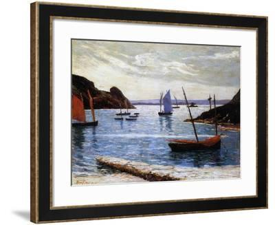 The Port, Island of Brehat, Brittany, 1892-Maxime Emile Louis Maufra-Framed Giclee Print