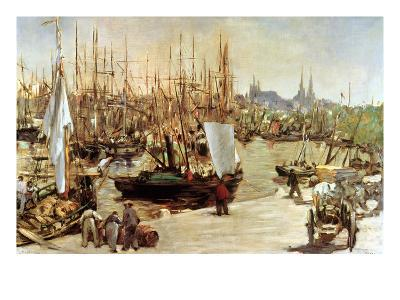 The Port of Bordeaux, 1871-Edouard Manet-Giclee Print