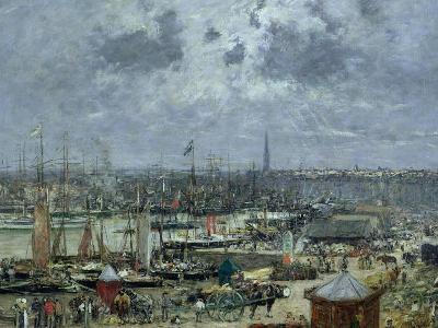 The Port of Bordeaux, 1874-Eug?ne Boudin-Giclee Print