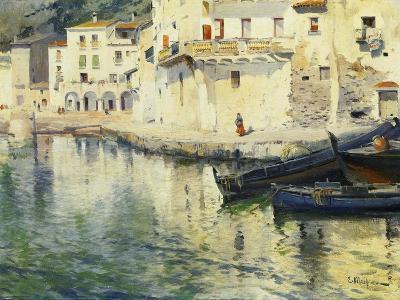 The Port of Cadaques-Eliseu Meifren i Roig-Giclee Print