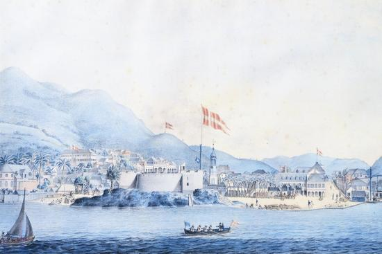 The Port of Christiansted in Saint Croix in the Virgin Islands--Giclee Print