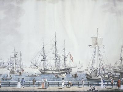 The Port of Copenaghen, 1794, Denmark 18th Century--Giclee Print