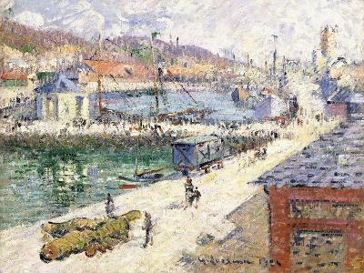The Port of Fecamp, 1924-Gustave Loiseau-Giclee Print