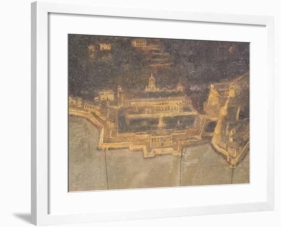 The Port of Genoa with Villa Del Principe, or Doria Pamphilj Palace--Framed Giclee Print