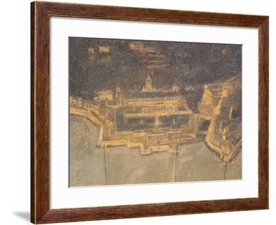 The Port of Genoa with Villa Del Principe, or Doria Pamphilj Palace--Framed Giclee Print