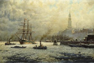 The Port of Hamburg, 1893-Georg Schmitz-Giclee Print