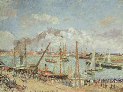 The Port of Le Havre, Afternoon, Sun, 1903-Camille Pissarro-Giclee Print