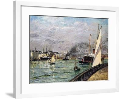 The Port of Le Havre, Normandy, 1905-Maxime Emile Louis Maufra-Framed Giclee Print