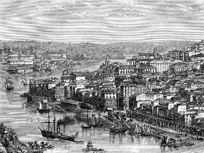 The Port of Lisbon, Portugal, 19th Century- Catenacci-Giclee Print