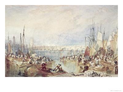 The Port of London-J^ M^ W^ Turner-Giclee Print