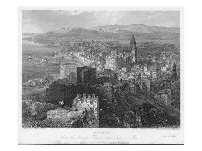 The Port of Malaga, in Andalucia, Is Dominated by its 16th Century Cathedral--Giclee Print