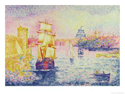 The Port of Marseilles, circa 1909-Henri Edmond Cross-Giclee Print