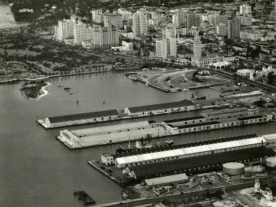 The Port of Miami with the Freedom Tower--Photographic Print