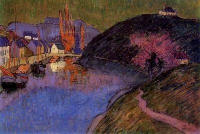 The Port of Pont-Aven, Brittany, 1891-Emile Jourdan-Giclee Print