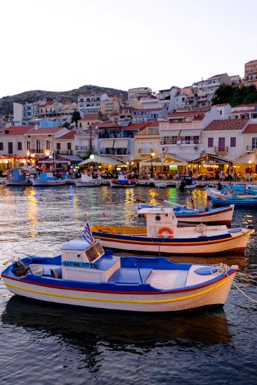 The Port of Pythagorio, Samos Island, North Aegean Islands, Greek Islands, Greece, Europe-Carlo Morucchio-Photographic Print
