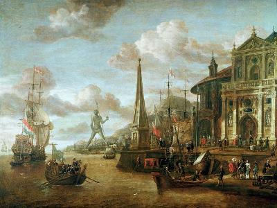The Port of Rhodes-Abraham Storck-Giclee Print