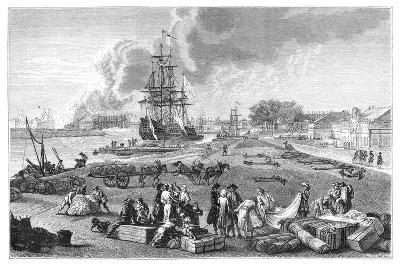 The Port of Rochefort-Claude Joseph Vernet-Giclee Print