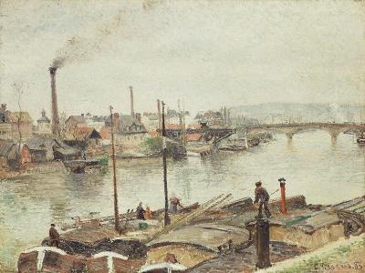The Port of Rouen, 1883-Camille Pissarro-Giclee Print