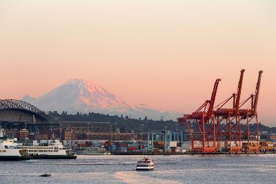 The Port of Seattle.-Jon Hicks-Photographic Print