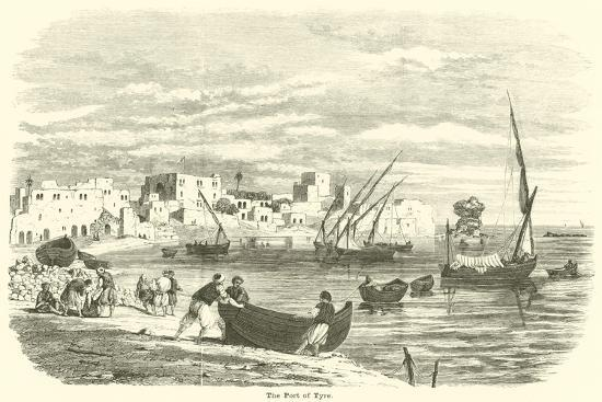 The Port of Tyre--Giclee Print