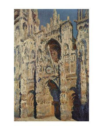 The Portal and the Tour d'Albane in the Sunlight, c.1984-Claude Monet-Art Print