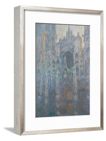 The Portal of Rouen Cathedral in Morning Light, 1894-Claude Monet-Framed Giclee Print
