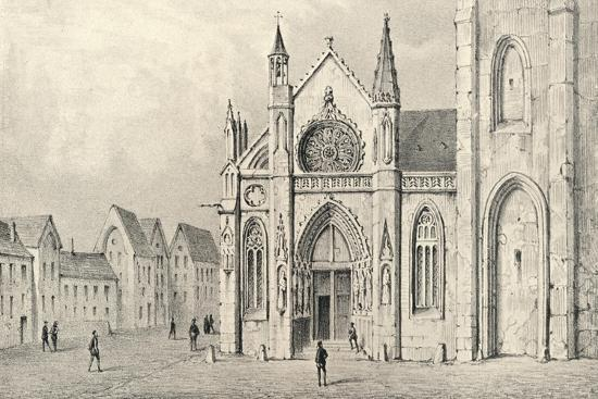 'The Portal of the Church of St Jacques la Boucherie', 1915-Unknown-Giclee Print