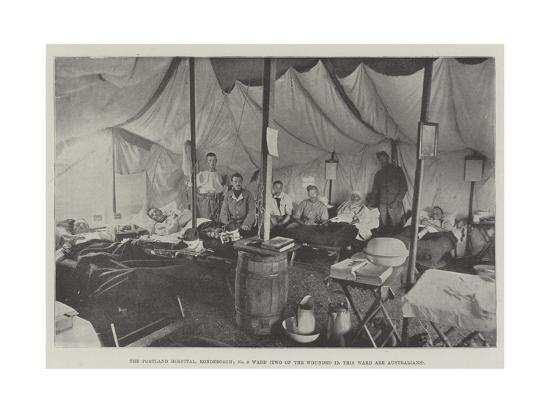 The Portland Hospital, Rondebosch, No 9 Ward, Two of the Wounded in This Ward are Australians--Giclee Print