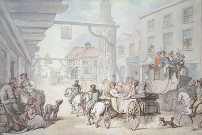 The Post Chaise-Thomas Rowlandson-Giclee Print
