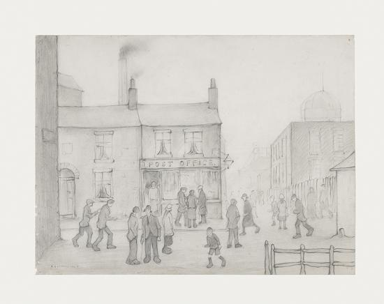 The Post Office, 1926-Laurence Stephen Lowry-Premium Giclee Print