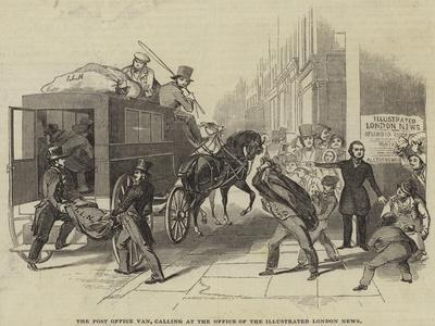 The Post Office Van, Calling at the Office of the Illustrated London News--Giclee Print