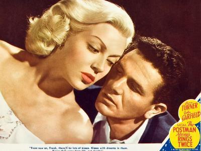 The Postman Always Rings Twice, Lana Turner, John Garfield, 1945--Art Print