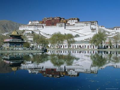 The Potala Palace and Reflection, Lhasa, Tibet, China, Asia-Gavin Hellier-Photographic Print