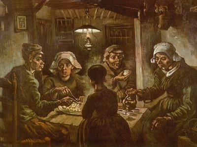 The Potato Eaters Van Gogh Painting Giclee Canvas Print Art Home Decor Wall