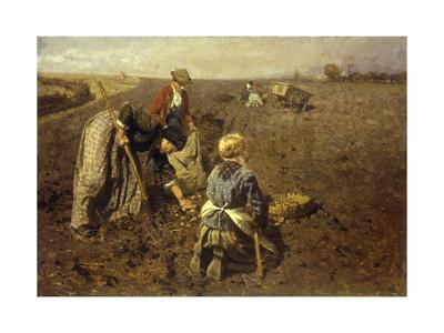 The Potato Harvest-Herman Hartwich-Giclee Print