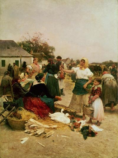 The Poultry Market, 1885-Lajos Deak Ebner-Giclee Print