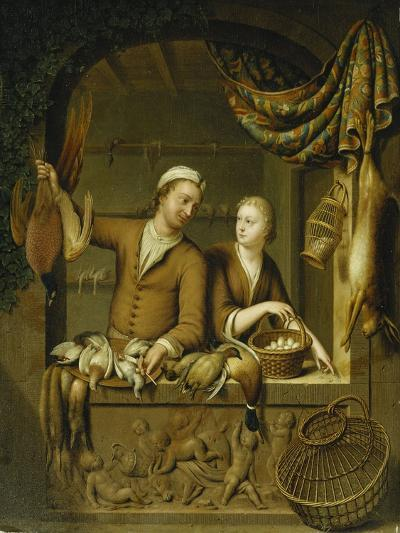 The Poultry Sellers, 1727-Willem Van Mieris-Giclee Print