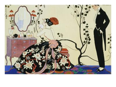 The Powder Puff-Georges Barbier-Giclee Print