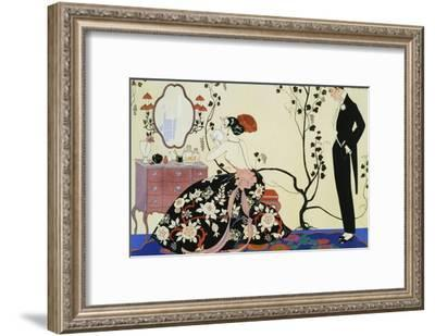 The Powder Puff-Georges Barbier-Framed Giclee Print