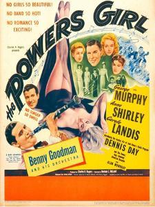 The Powers Girl, Benny Goodman on window card, 1943